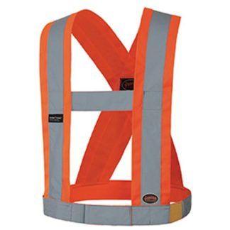 "Pioneer V1040350 Hi-Viz CSA 4"" Wide Adjustable Safety Sash"