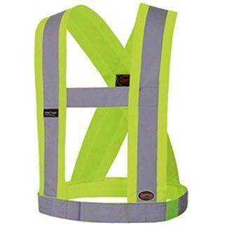 "Pioneer V1040360 Hi-Viz CSA 4"" Wide Adjustable Safety Sash"