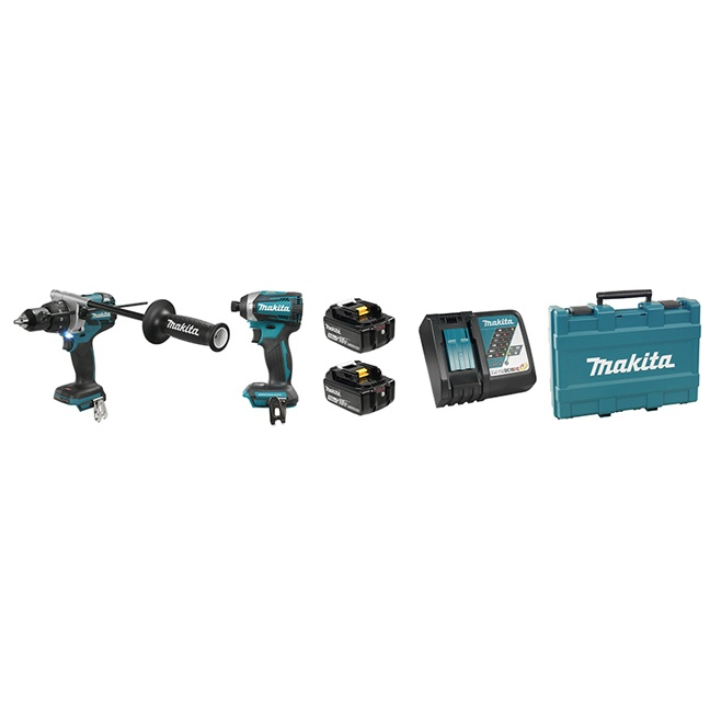 Makita DLX2176T 18V Brushless Hammer Drill & Impact Driver Combo Kit