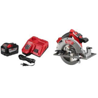 "Milwaukee 48-59-1890PC M18 Fuel 7-1/4"" Circular Saw & 9.0Ah Starter Kit"