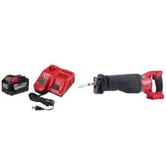 Milwaukee 48-59-1890PS M18 Fuel Sawzall & 9.0Ah Starter Kit