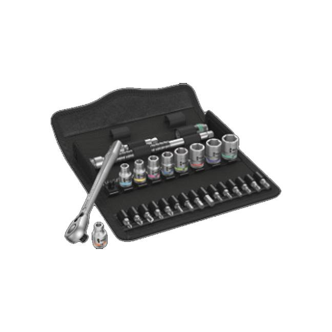 Wera 004021 8100 SA 11 Zyklop Metal Ratchet Set with Switch Lever