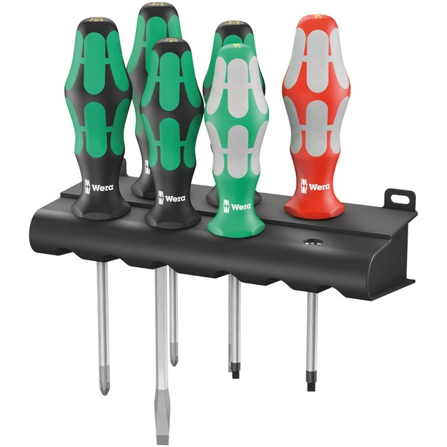 Wera 347778 Kraftform Plus Series 334/368/6 Screwdriver Set and Rack