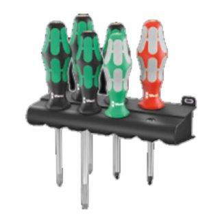 Wera 347778 334/368/6 Screwdriver Set and Rack