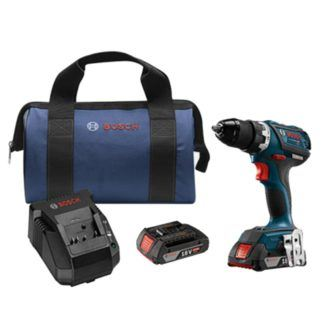 "Bosch DDS183-02 18V EC Brushless Compact Tough 1/2"" Drill Driver Kit"