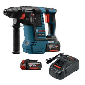 "Bosch GBH18V-26K 18V EC Brushless 1"" SDS-plus Bulldog Rotary Hammer Kit"