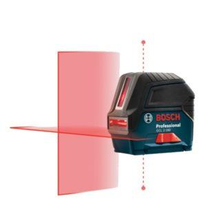 Bosch GCL 2-160 + LR 6 Self-Leveling Cross-Line Laser with Plumb Points and L-Boxx
