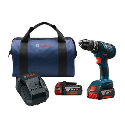 "Bosch HDS181A-01 18V Compact Tough 1/2"" Hammer Drill Driver Kit"