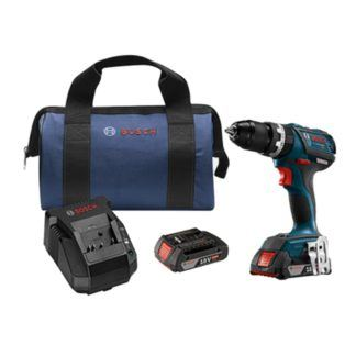 "Bosch HDS183-02 18V Brushless Compact Tough 1/2"" Hammer Drill Driver Kit"