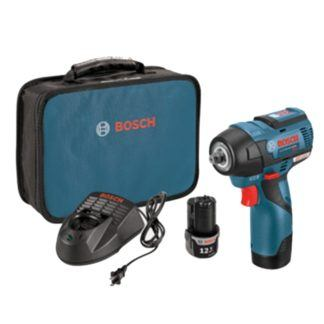 "Bosch PS82-02 12V MAX EC Brushless 3/8"" Impact Wrench Kit"