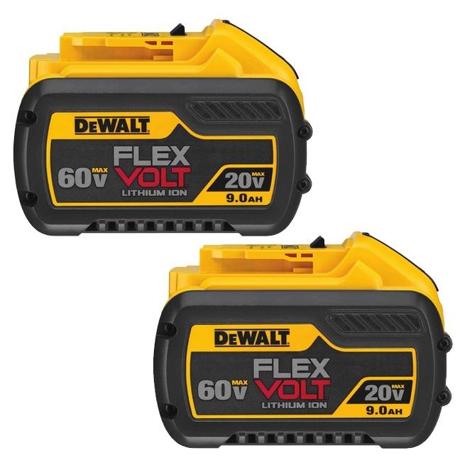 DeWalt DCB609-2 20V/60V Max Flexvolt 9.0Ah Battery 2-Pack