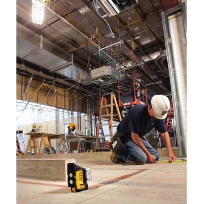 DeWalt DW089K Self-Leveling 3-Beam Line Laser Kit In Use 1