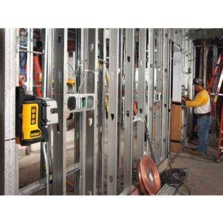 DeWalt DW089K Self-Leveling 3-Beam Line Laser Kit In Use 4