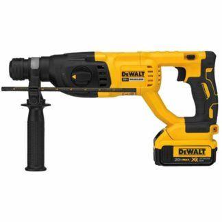 "Dewalt DCH133M2 20V Max XR Brushless 1"" D-Handle Rotary Hammer"