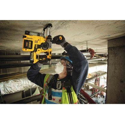 Dewalt DCH273P2DH 20V Max XR Brushless L-Shape SDS Plus Rotary Hammer Kit with On Board Dust Extractor In Use 2