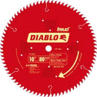"Freud D1080X 10"" x 80T Ultra Fine Finish Blade"