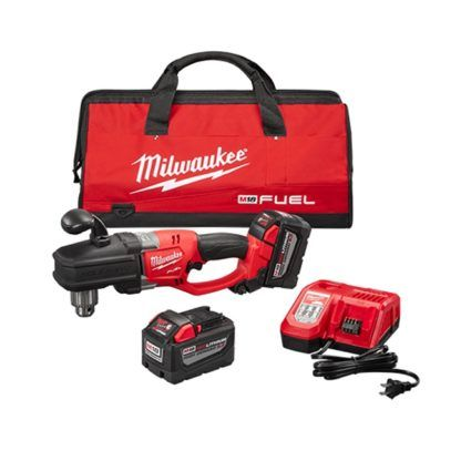 """Milwaukee 2707-22HD M18 FUEL HOLE HAWG 1/2"""" Right Angle Drill High Demand Kit"""