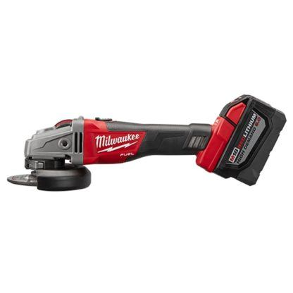 Milwaukee 2781-22HD M18 FUEL Grinder Slide Switch Lock-On High Demand Kit Side