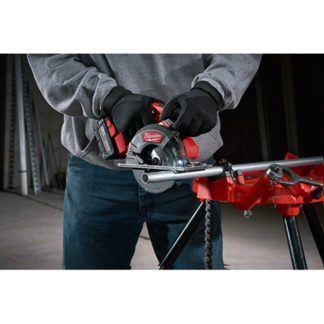 Milwaukee 2782-20 M18 FUEL Metal Cutting Circular Saw In Use 3