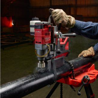 Milwaukee 2787-22HD M18 FUEL Magnetic Drill High Demand Kit In Use 3