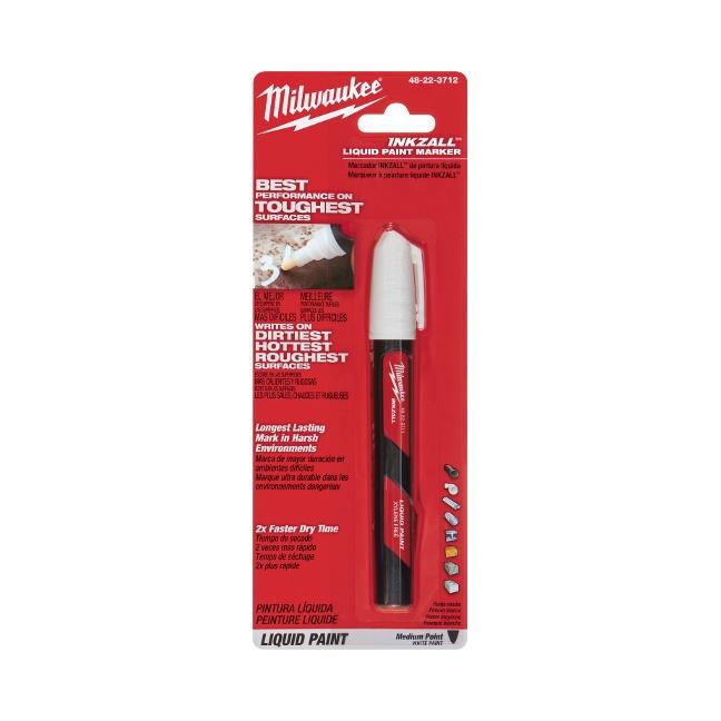 Milwaukee 48-22-3712 INKZALL White Paint Marker