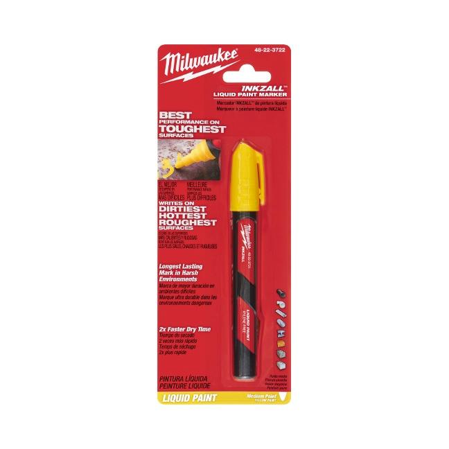 Milwaukee 48-22-3722 INKZALL Yellow Paint Marker