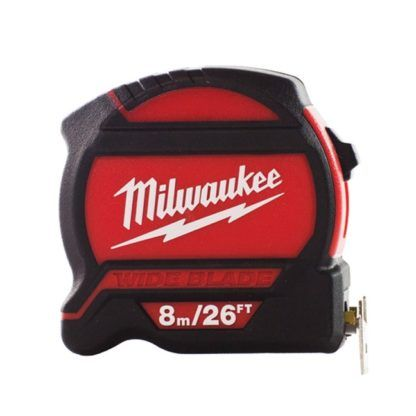 Milwaukee 48-22-7526 8m/25ft Wide Blade Tape Measure