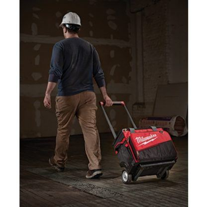 Milwaukee 48-22-8221 Jobsite Rolling Bag In Use 2