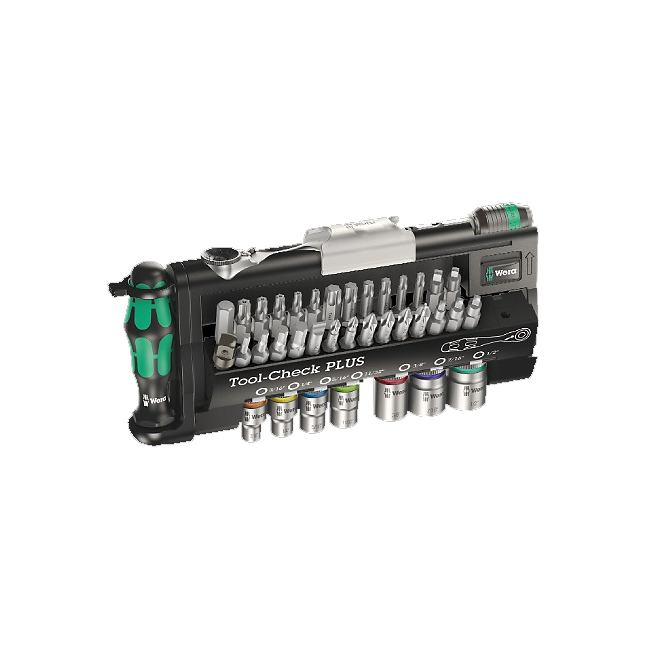 Wera 056491 Tool-Check Plus Imperial Bits Assortment with Ratchet & Sockets