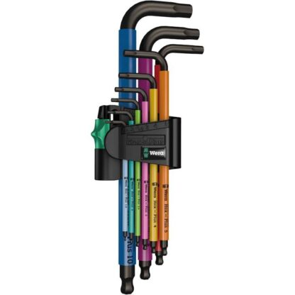 Wera 073593 950 SPKL/9 SM N SB Multicolour Metric Allen/Hex L-Key Set