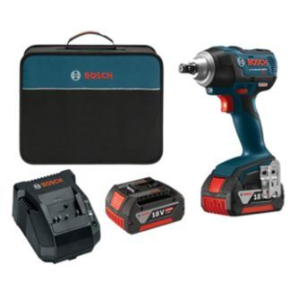 "Bosch IWMH182-01 18V EC Brushless 1/2"" Impact Wrench Kit with Ball Detent"