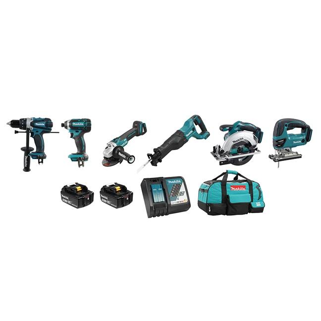 Makita DLX6079M 6 Tool Cordless Combo Kit