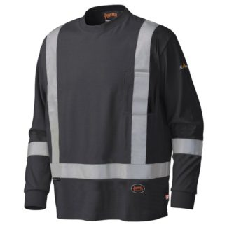 Pioneer 340SFA Flame Resistant Long-Sleeved Cotton Safety Shirt