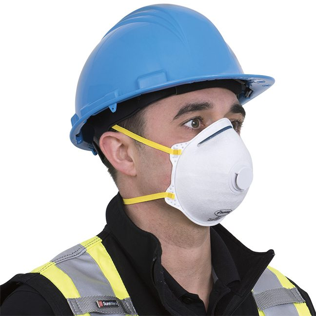 With N95 Cone Shaped 355p Valve Pioneer Mask v7031300 Face