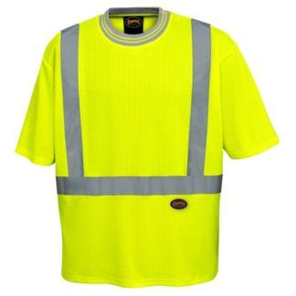 Pioneer 6907 Poly Cotton Drop Needle Hi-Viz T-Shirt
