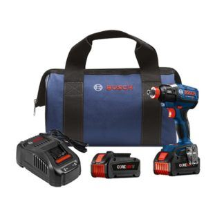 "Bosch IDH182-B24 18V EC Brushless 1/4"" and 1/2"" Socket-Ready Impact Driver Kit"