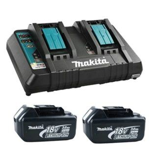 Makita T-03252X 2x18V 3.0Ah Battery & Rapid Charger Kit
