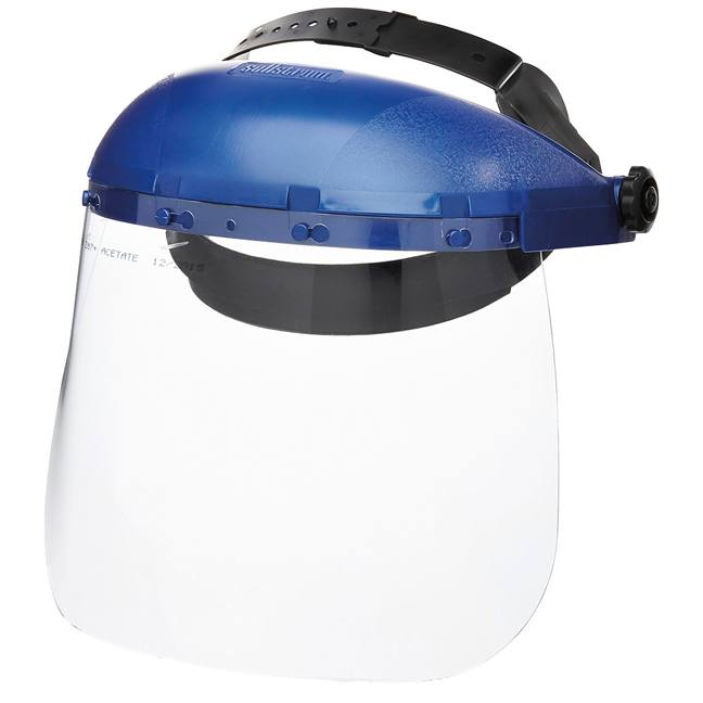 Sellstrom S39110 Single Crown Face Shield with Ratcheting Headgear