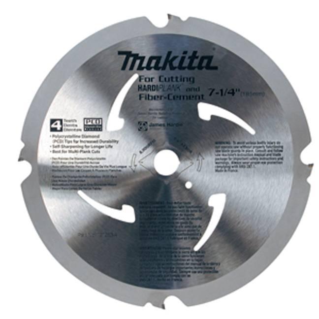 "Makita A-95124 7-1/4"" 4T Fibre-Cement Circular Saw Blade"