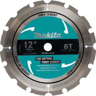 "Makita A-95146 12"" 8T Fibre-Cement Miter Saw Blade"