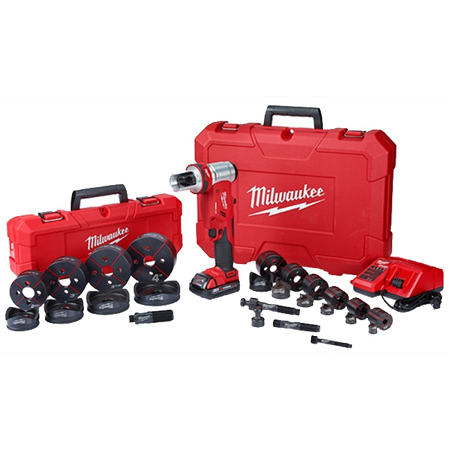 """Milwaukee 2677-23 M18 FORCELOGIC 6T Knockout Tool 1/2"""" - 4"""" Kit"""
