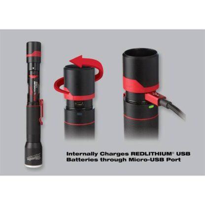 Milwaukee 2110-21 700-Lumen Rechargeable LED Flashlight 2
