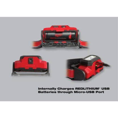 Milwaukee 2111-21 475-Lumen Rechargeable LED Hard Hat Headlamp 2