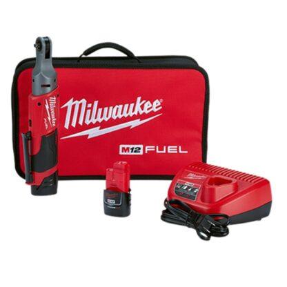 "Milwaukee 2556-22 M12 FUEL 1/4"" Ratchet Kit"