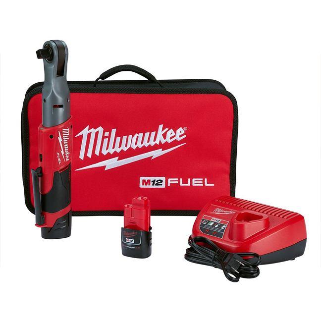 "Milwaukee 2558-22 M12 FUEL 1/2"" Ratchet Kit"