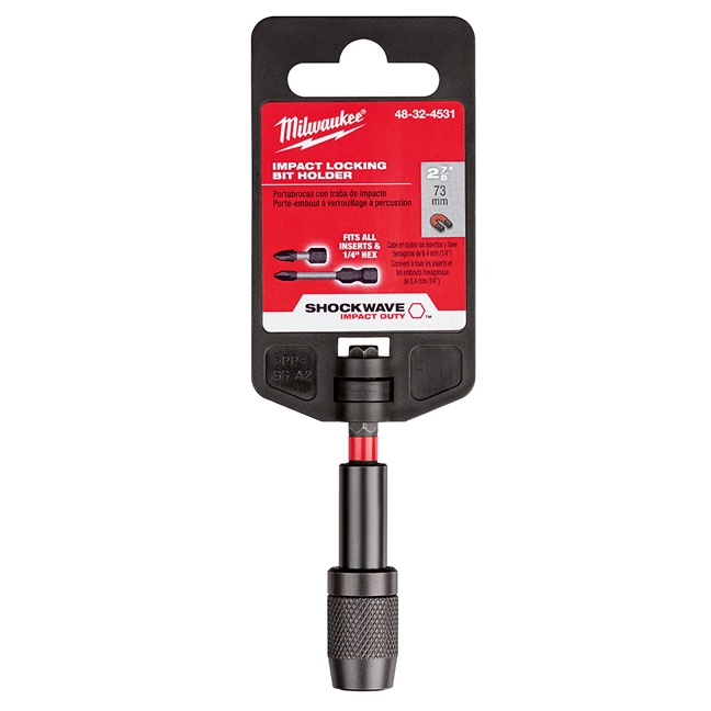 "Milwaukee 48-32-4531 Shockwave 2-7/8"" Impact Locking Bit Holder"