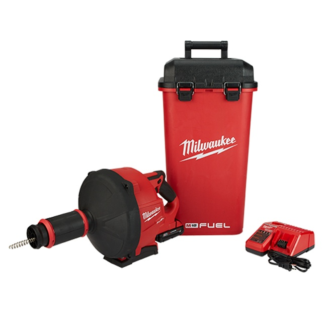 Milwaukee 2772A-22 M18 FUEL Drain Snake with Cable Drive Kit