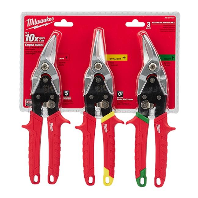 Milwaukee 48 22 4533 3 Pc Aviation Snip Set Bc Fasteners