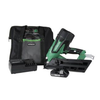 "Hitachi NR1890DC 18V Brushless 3-1/2"" Paper Strip Framing Nailer"