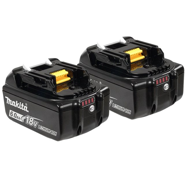 Makita 197429-0 BL1860B 18V 6.0 Ah Battery 2-Pack